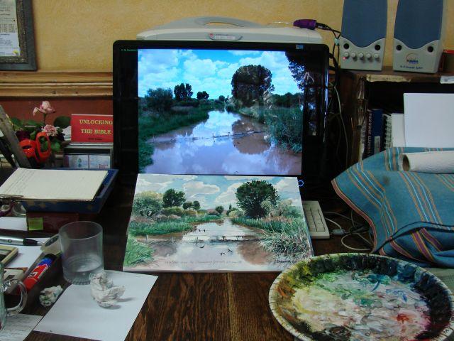 Working on Stormberg Spruit sketch