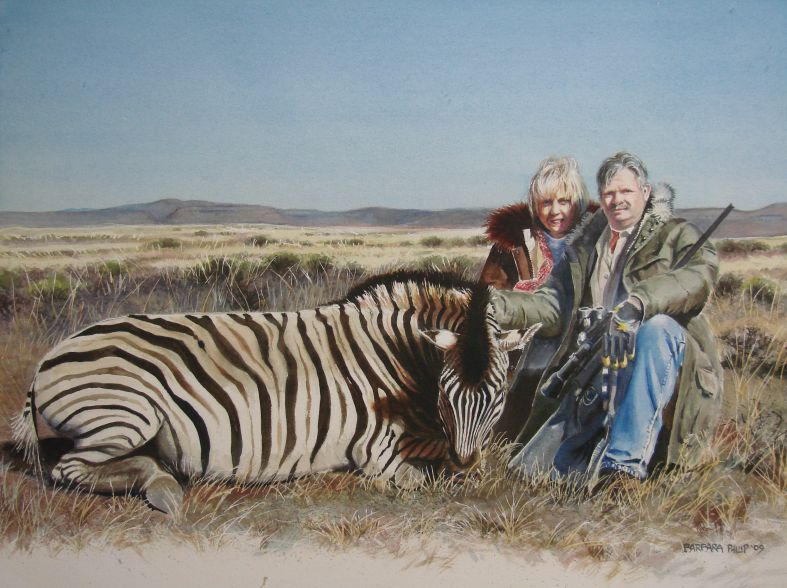 Trophy Zebra