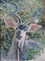 Kudu painting. Baviaanskloof. watercolour