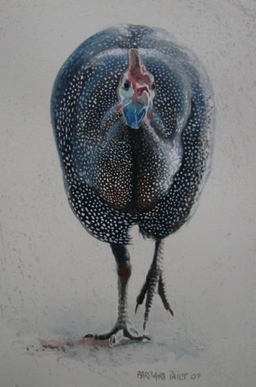 Guinea Fowl painting.