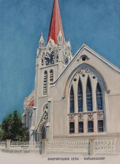 Gereformeerde Kerk, Burgersdorp. painting