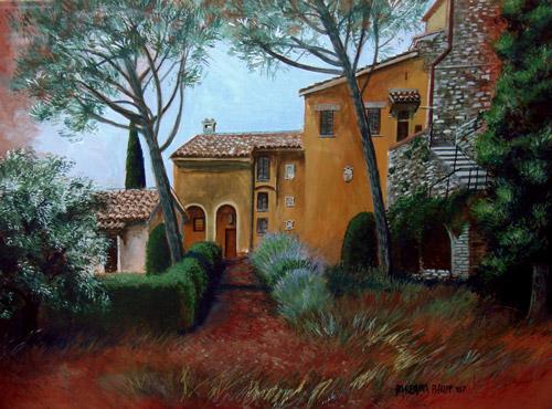 Tuscan Villa painting