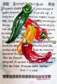 Pimento Recipe. calligraphy and painting