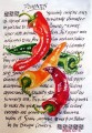 Pimentos. Calligraphy and painting.
