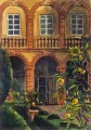 painting of Villa Cetinale. Italy.