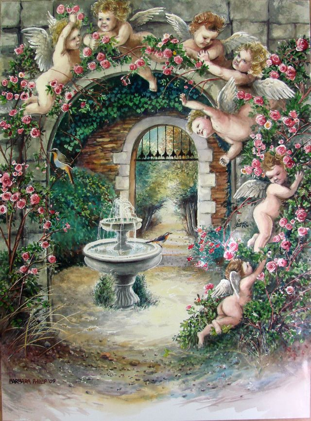 Angel Garden Barbara Philip African Painting