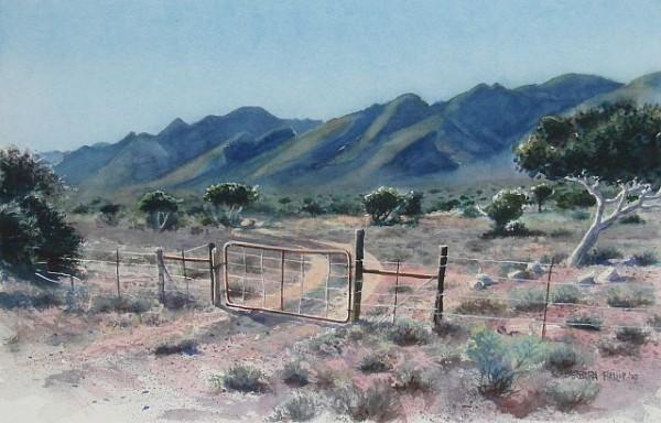 Karoo Painting. Kliplaat