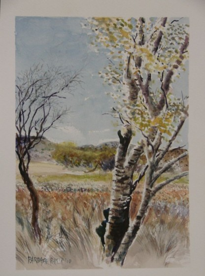 painting of Poplar tree