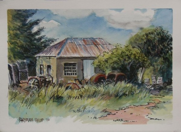 painting of Farm Workshop