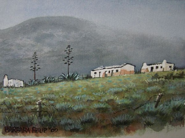 Painting of Langkloof Cottages