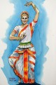 Indian Dancer, painting
