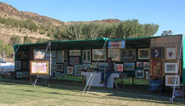 Africanpainting stall, Burgersdorp Somerfees 2011