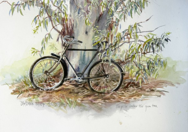 Bicycle under the Tree.