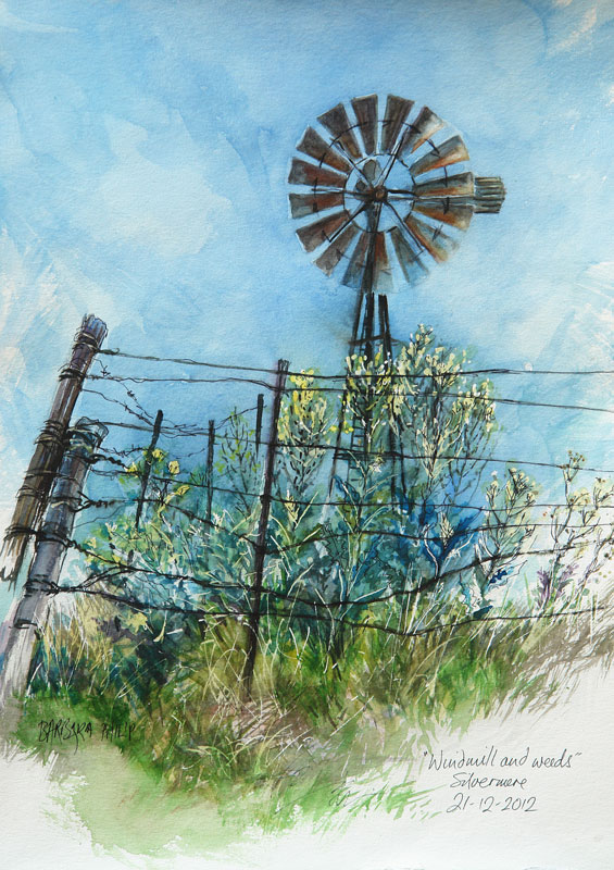 Windmill & Weeds.
