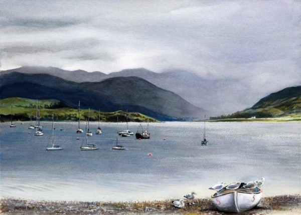 Ullapool boats on Loch Broom