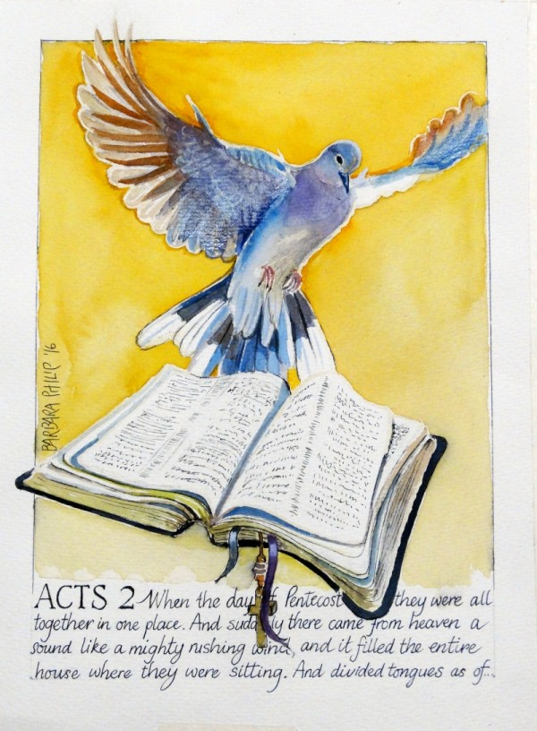 Bible and Dove of the Holy Spirit