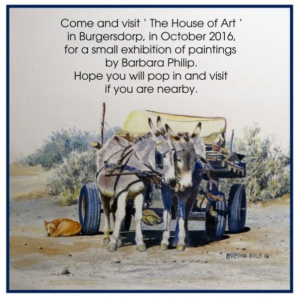 Donkey cart, exhibition poster.
