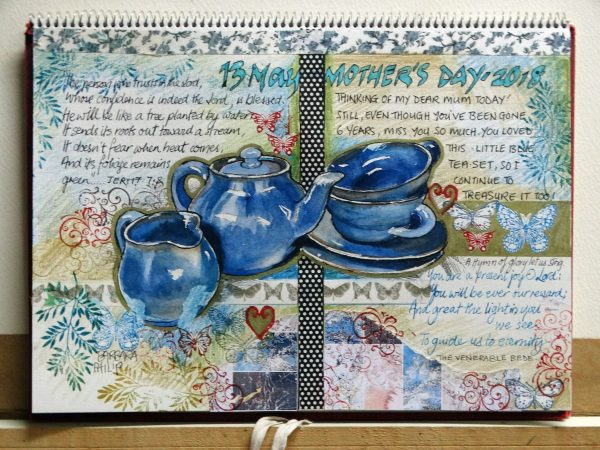 Tea-set, Blue, Mother's Day, Remembering my Mum.