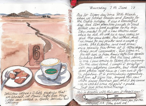 Art sketch journal page 2