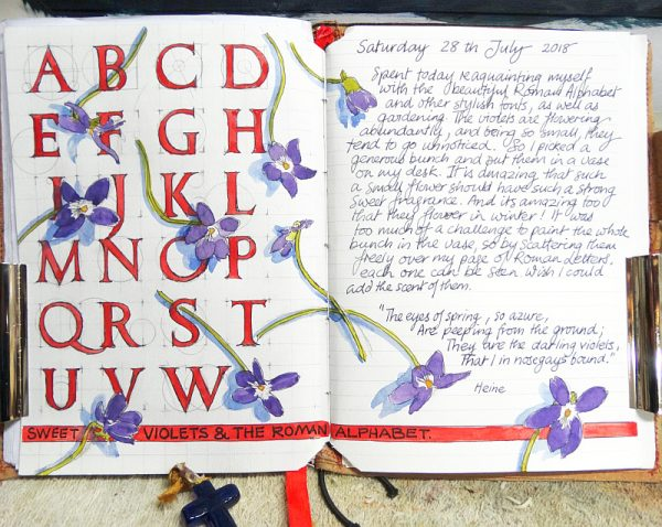 Roman letters and Violets