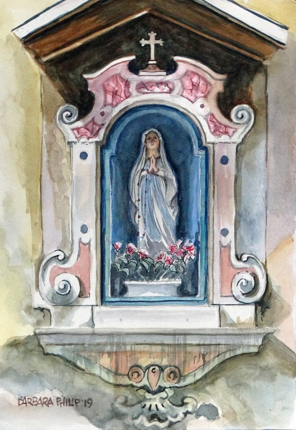 Madonna wall shrine, Verona.