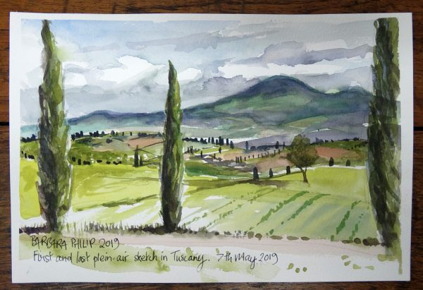 Tuscany, plein-air sketching.