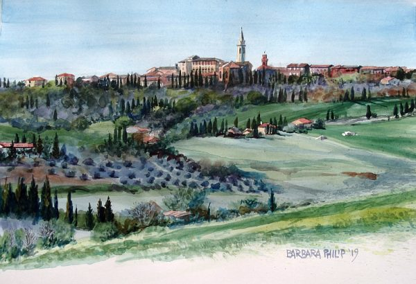 Tuscany landscape, Pienza.