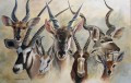 African Antelope painting