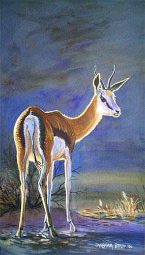 Springbok painting