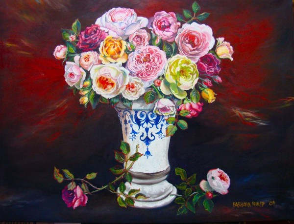 Oil painting of Roses