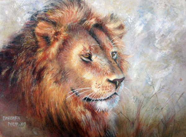 Lion watercolour