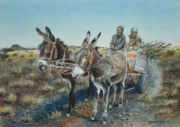 Donkey Cart painting