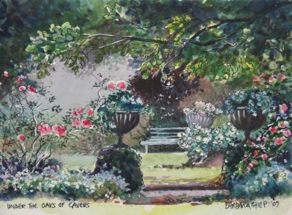 Cavers garden painting