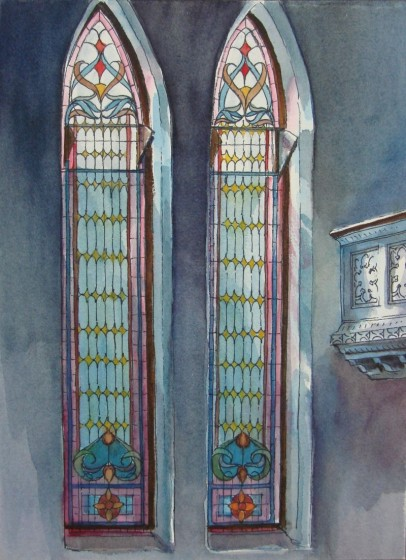 painting of church windows