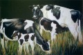 Friesland Cows & calves painting