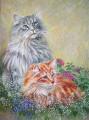 Persian cat painting