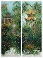 paintings of the Pavillions of Changsha. China