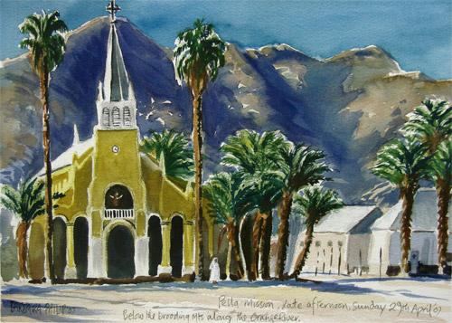 Pella Mission Church painting