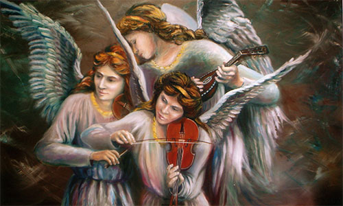 oil painting of Angels