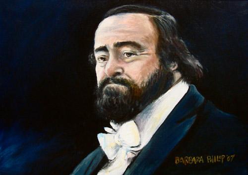 Luciano Pavarotti oil painting