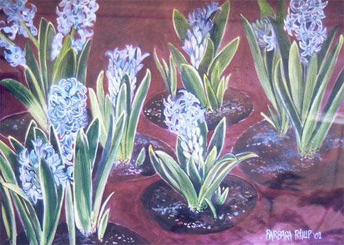Hyacinths painting