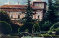 Painting of 'Villa Chigi'. Italy
