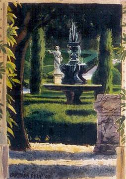 painting of 'Villa Guista'. Italy.