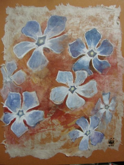 painting of Periwinkles