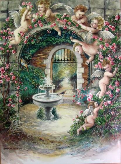 Painting of Angel Garden