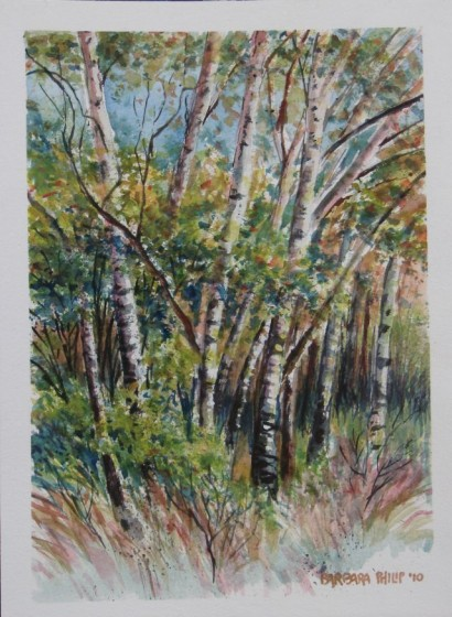 Painting of Poplar trees