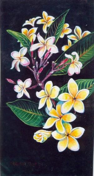 painting of Frangipani