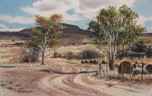 Painitng of a farm road