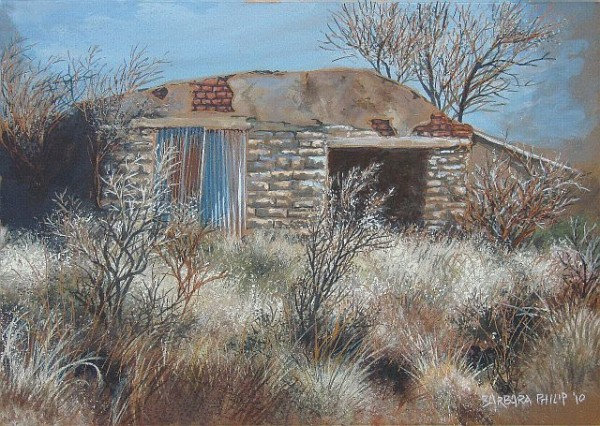 Painting of old shed