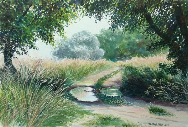 'Country road' painting